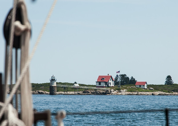 Ram Island Lighthouse off Ocean Point, from the deck of the East Wind, By Joe Walsh